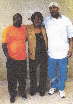 July 18, 2015: Darrien Brown (on the right) with his mother and brother